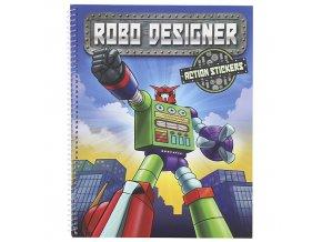 Create Your Robo Designer Roboti, 3D samolepky