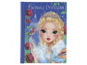 Kreativní sešit Create Your Fantasy Princess, se samolepkami