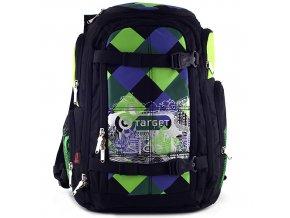 Sportovní batoh Target zeleno-modro-černé kostky
