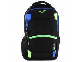 Sportovní batoh Target modro-zelený zip