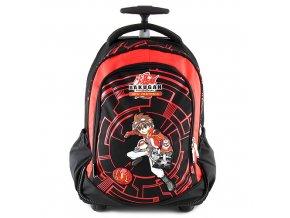 Školní batoh trolley Bakugan červeno/černý, s motivem Bakugan