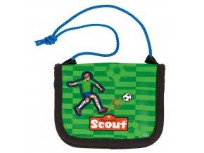 Peněženka s poutkem Scout zaoblená, fotbalista