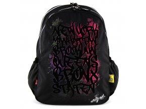 Sprayground Studentský batoh Spray Ground motiv grafity, černý