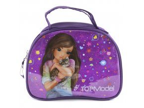 Kosmetická taška Top Model Fialová s flitry, Talita