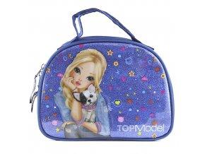 Kosmetická taška Top Model Modrá s flitry, Candy