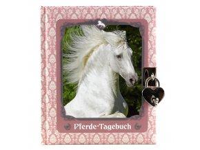 Diář Horses Dreams se zámkem motiv bílého koníka