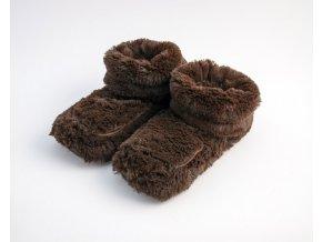Hřejivé botičky Albi hnědé
