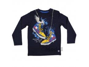 Chlapecké tričko s dlouhým rukávem kecky modré Soul & Glory
