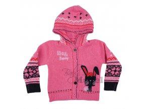 Dívčí svetr růžový zajíček Rabbit