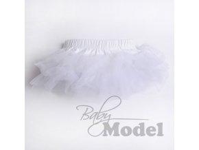 Kojenecká tutu sukýnka bílá