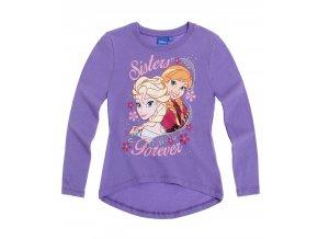 Dívčí tričko Ledové království s dlouhým rukávem fialové