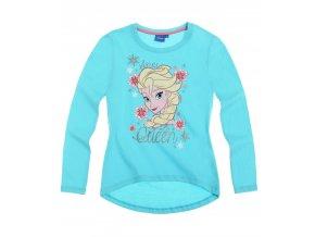 Dívčí tričko Ledové království s dlouhým rukávem tyrkysové