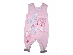 Dupačky růžové zajíčci - Autex Baby
