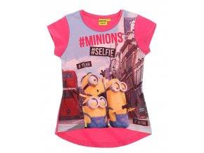Dívčí tričko Mimoni růžové