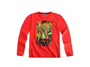 Tričko Star Wars s dlouhým rukávem červené
